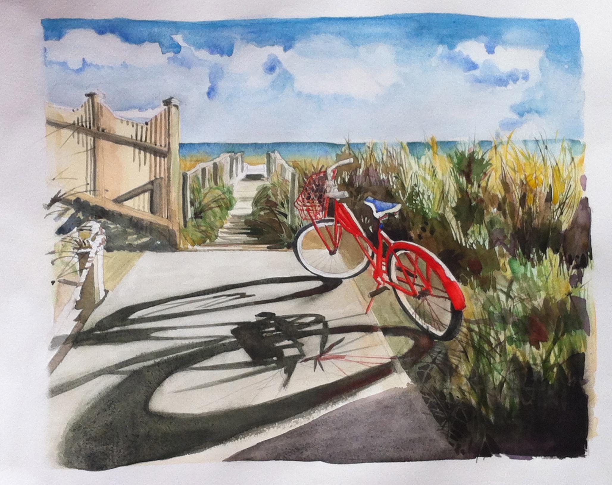 Red Bike on Fire Island