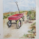 Red Wagon on Dune