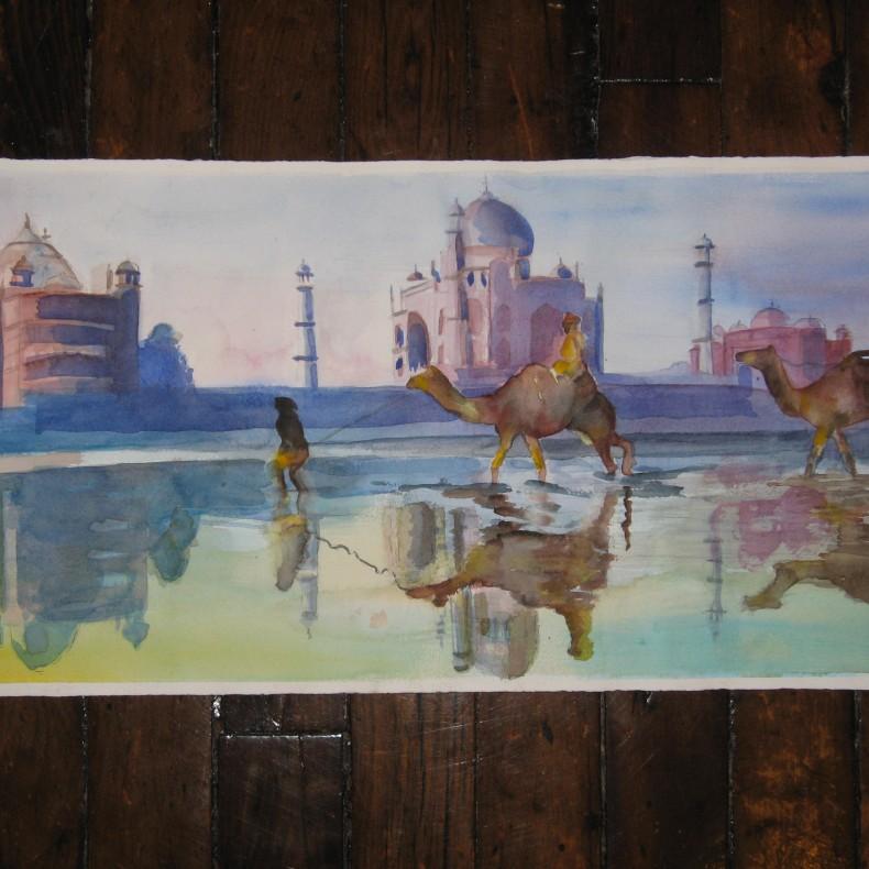 Taj with Reflections