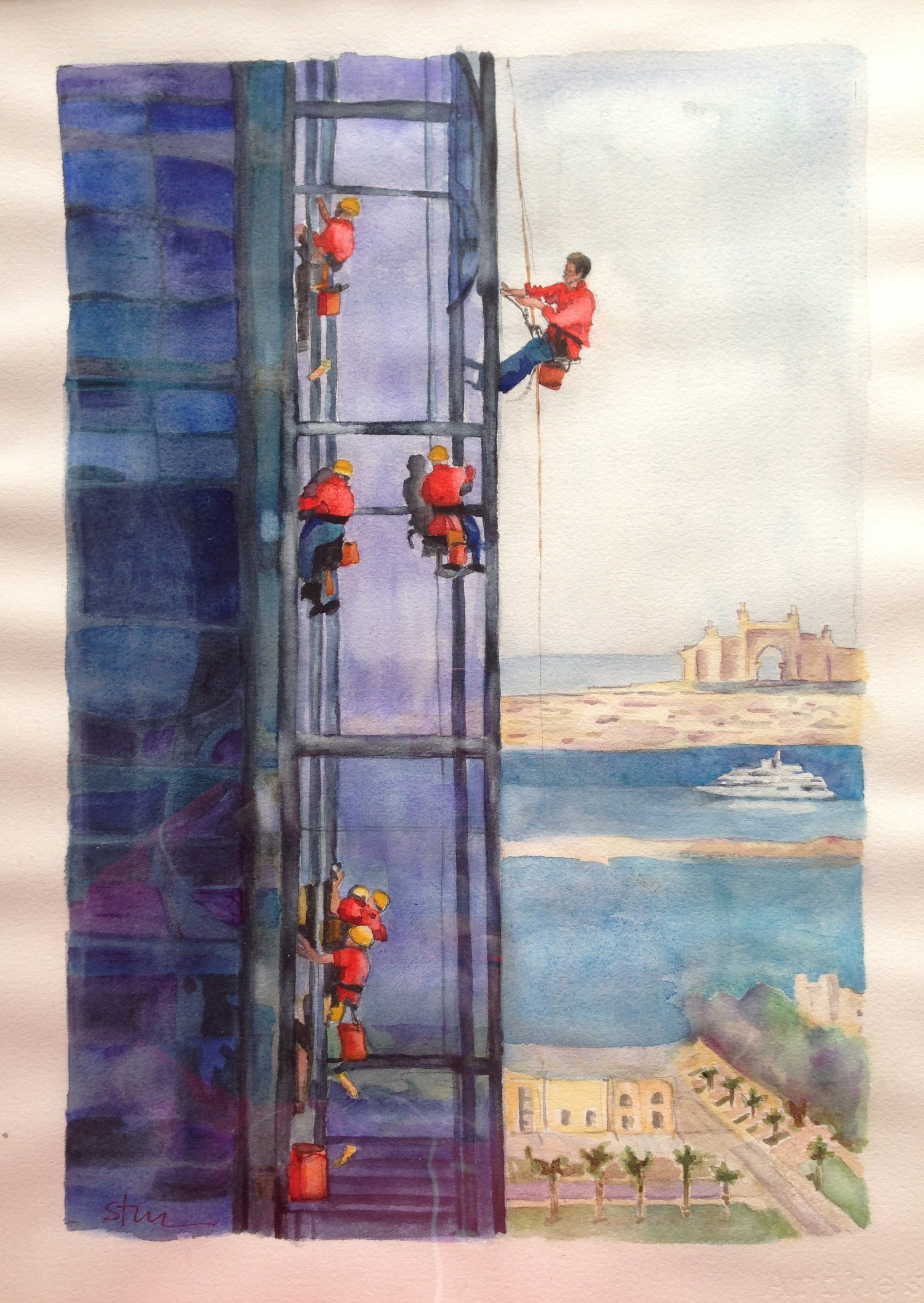 Sextet of Window Washers