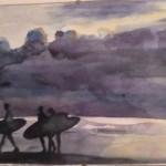 Surfers Leaving